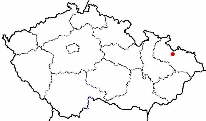 Mapa ČR - vyznačení polohy Štáblovic