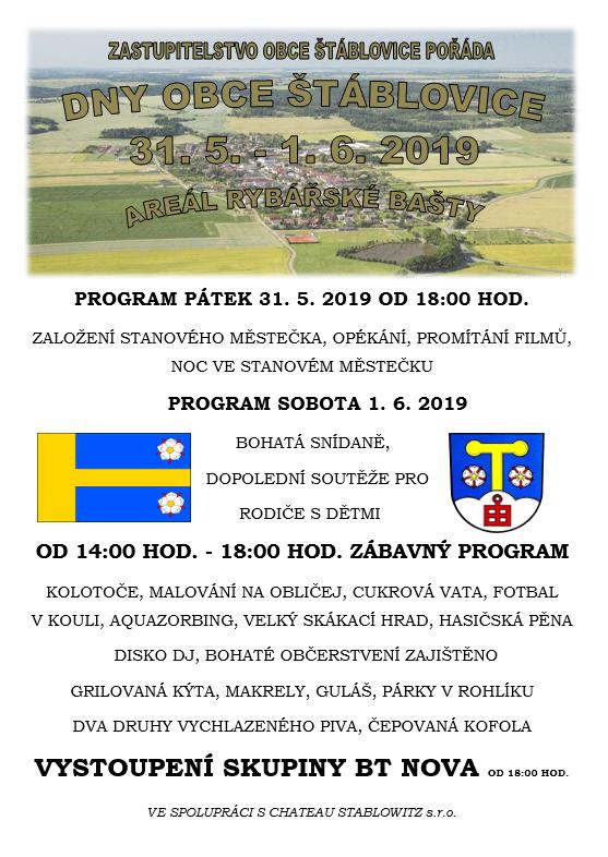Dny obce Štáblovice - plakát