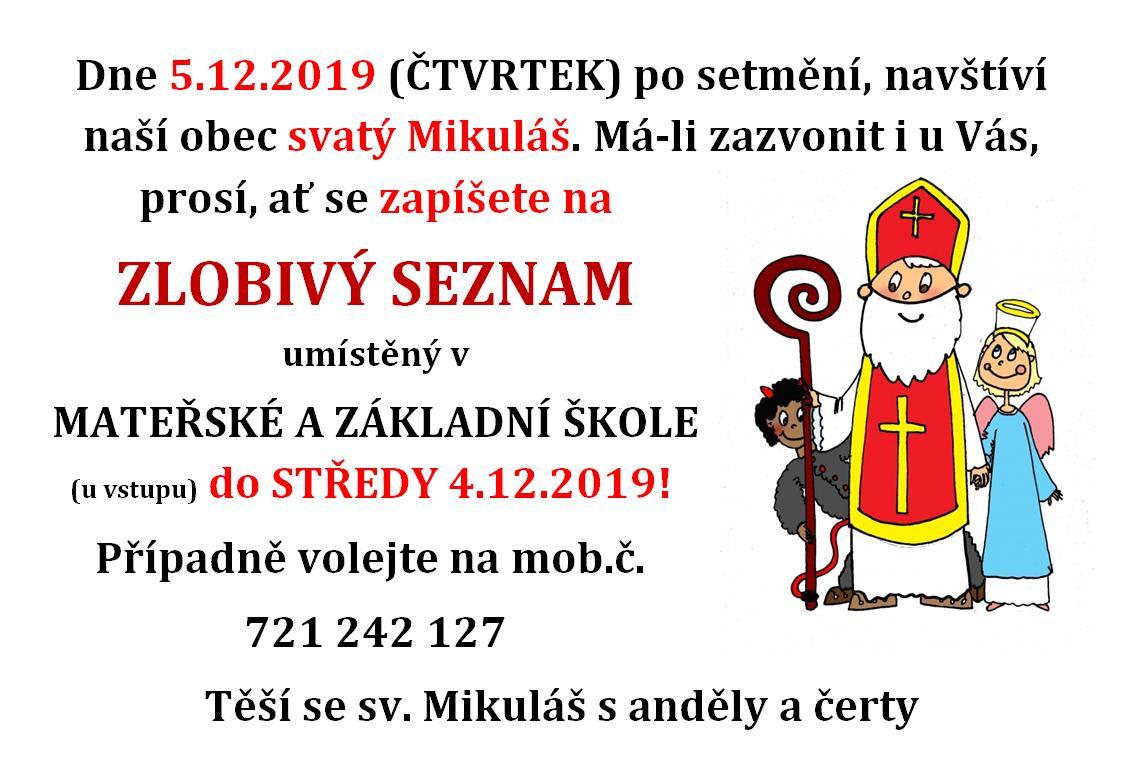 Plakát svatý Mikuláš 2019